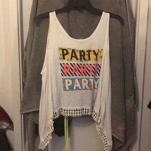Party crop with open back